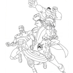 Awesome The Avengers Poster Coloring Page