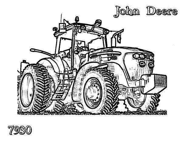 awesome tractor coloring page print