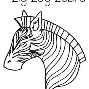 Awesome Zig Zag Zebra Coloring Page