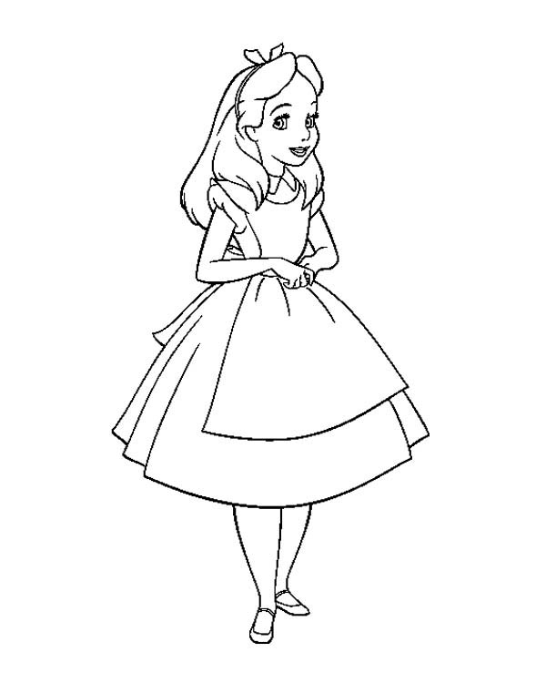 coloring pages alice wonderland - photo#23