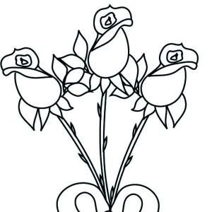 Beautiful Rose For Valentine Coloring Page