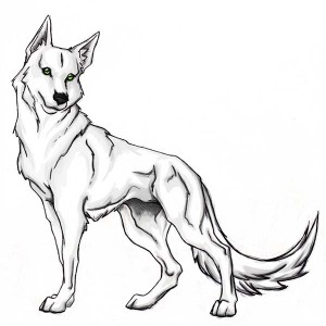Brave Wolf Coloring Page