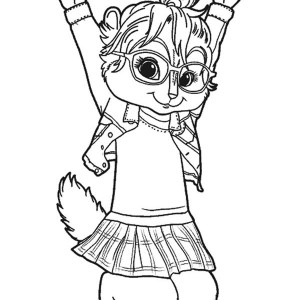 Brittany The Chipettes Jump Coloring Page
