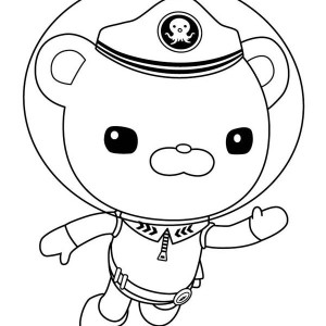 Captain Barnacles Swim In The Octonauts Coloring Page