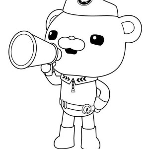 Captain Barnacles Of The  Octonauts And Megafon Coloring Page