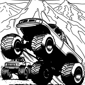 Captain's Curse Monster Truck Coloring Page