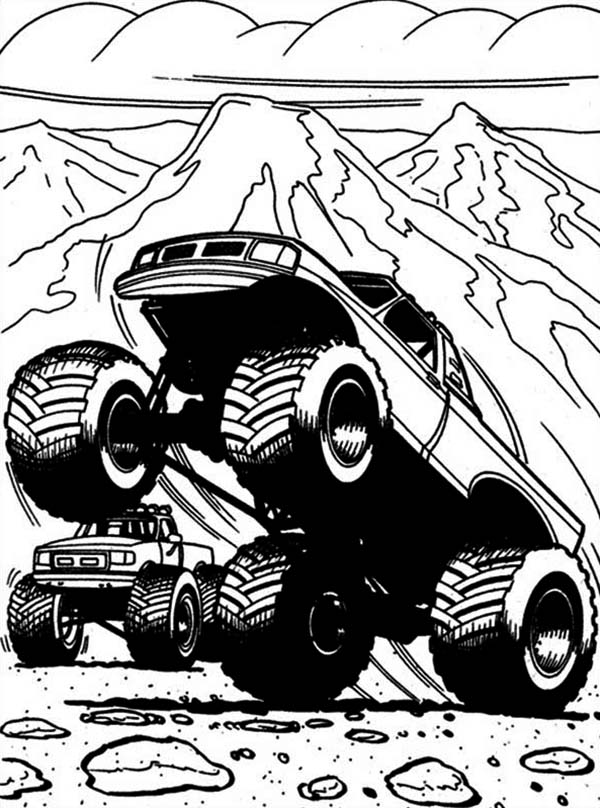 Captain 39 s Curse Monster Truck Coloring