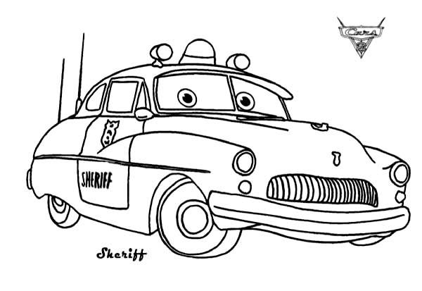 - Cars Sheriff From Disney Cars Coloring Page - Download & Print Online Coloring  Pages For Free Color Nimbus