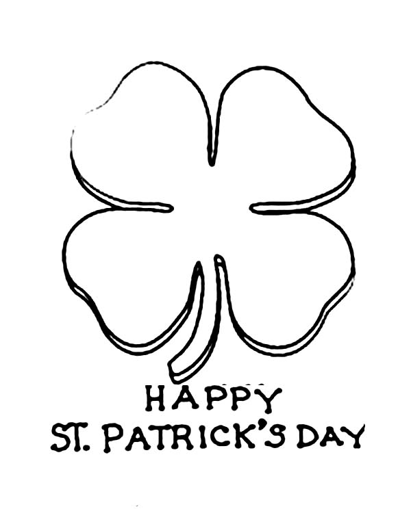 graphic regarding St Patrick's Day Clover Printable identify Celebrating St Patricks Working day With 4 Leaf Clovers Coloring