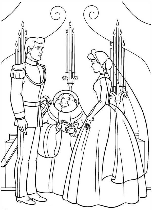 cinderella and prince charming about getting married in
