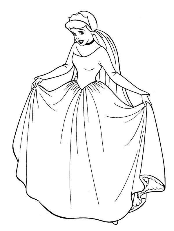 Cinderella in Her Wedding Dress