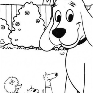 Clifford The Big Red Dog And Friends Coloring Page