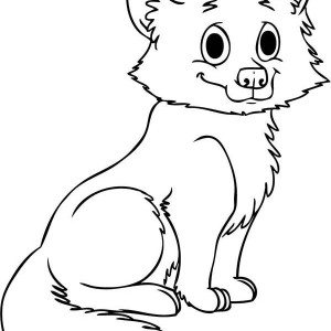 Cute Baby Wolf Coloring Page