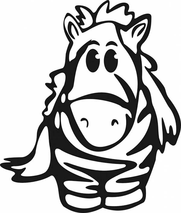 Cute Baby Zebra Coloring Page Download Print Online Coloring