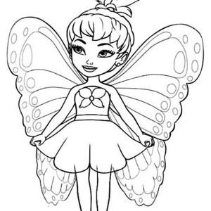 Cute Little Disney Fairies Coloring Page