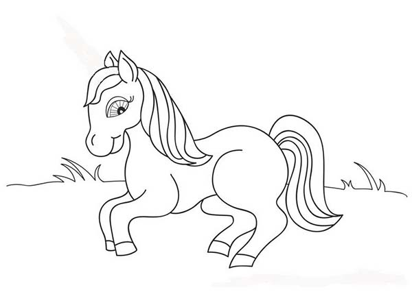 Cute Little Pony In Horses Coloring Page Download Print Online