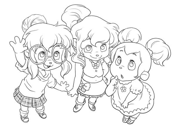 Cute Little The Chipettes Coloring Page Download Print Online