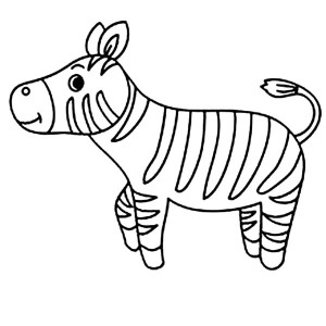 Cute Little Zebra Coloring Page