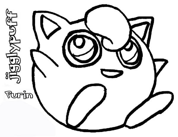 Cute Pokemon Jigglypuff Coloring Page Download Print Online