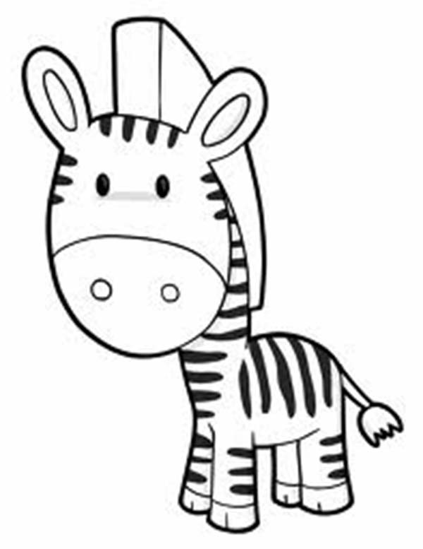 Cute Zebra Coloring Page