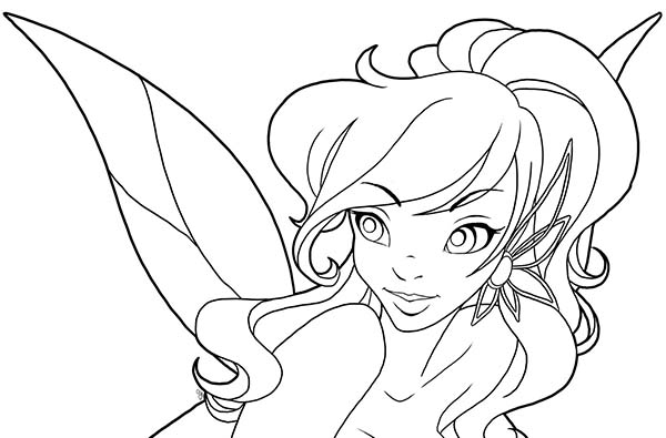 Disney Beautiful Fairies Vidia Coloring Page Download
