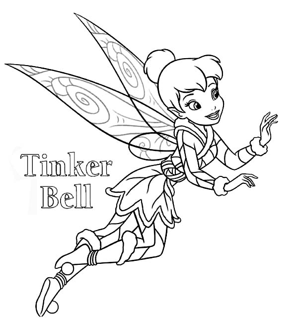 Tinkerbell Coloring Pages For Kids | 644x600