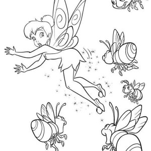 Disney Fairies Tinkerbell Runaway From Coloring Page