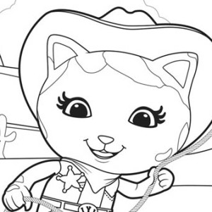 Dotty The US Marshall In Special Agent Oso Coloring Page