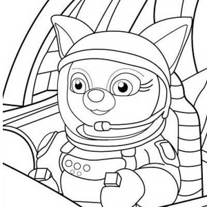 Dotty In Special Agent Oso Rocket Coloring Page