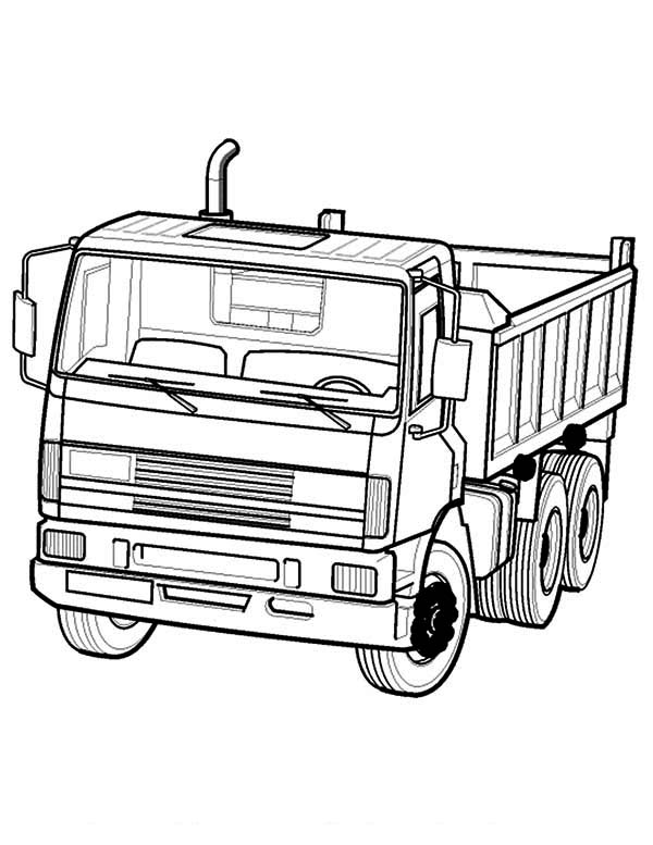 Dump Truck In Semi Truck Coloring Page - Download & Print ...
