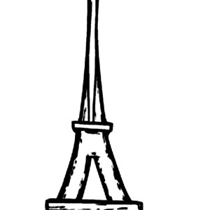 Eiffel Tower I'm In Love Coloring Page
