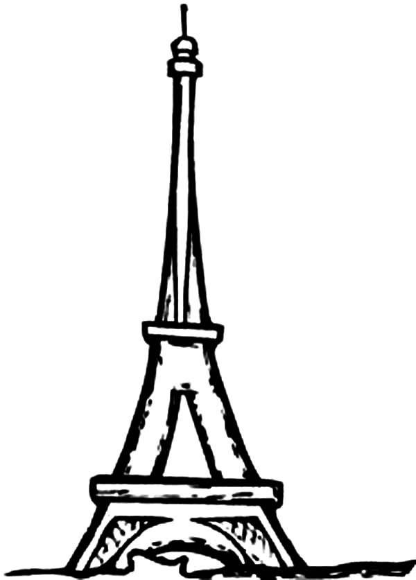 Eiffel Tower I M In Love Coloring Page Download Amp Print