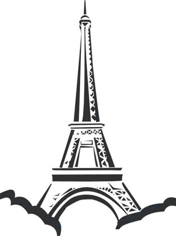 Eiffel Tower Located In Paris Coloring Page - Download ...