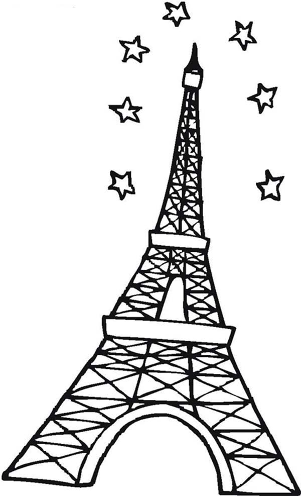 Eiffel Tower Coloring Page Drawing The Eiffel Tower Foto von ... | 987x600