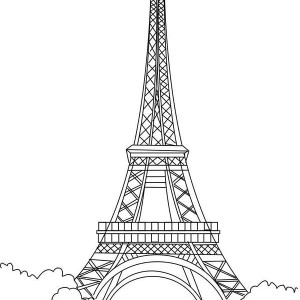 Eiffel Tower Is The Proud Of France Coloring Page