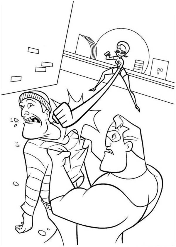 elastigirl incredibles coloring pages - photo#16