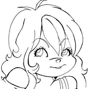 Eleanor The Chipettes Photo Coloring Page