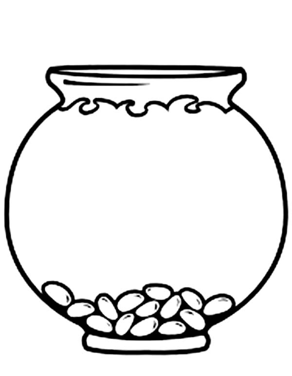 fish bowls coloring pages - photo#8