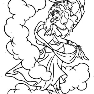 Esmeralda Dance In The Hunchback Of Notre Dame Coloring Page
