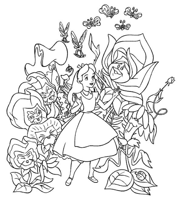 Free Printable Alice in Wonderland Coloring Pages For Kids | 695x600