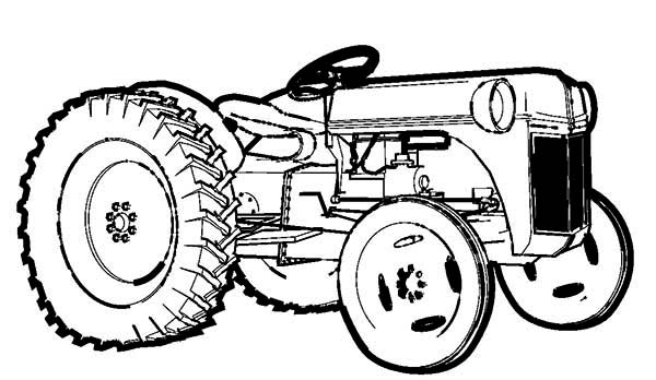 Farm Tractor Coloring Page - Download & Print Online Coloring Pages ...