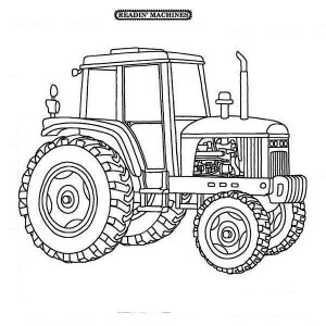 Farmer Tractor Coloring Page