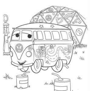Fillmore From Disney Cars Coloring Page
