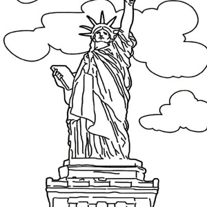 Frederic Auguste Bartholdi Statue Of Liberty Coloring Page