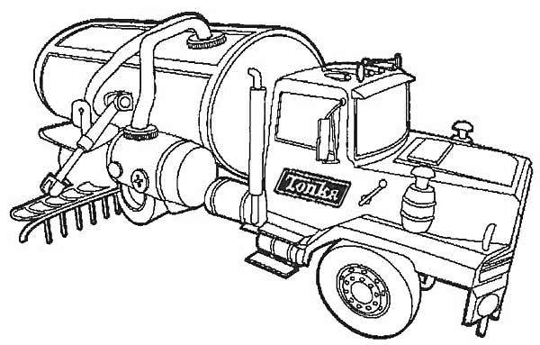 semi coloring trucks pages - photo#42