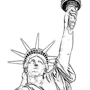 Grover Cleveland In Statue Of Liberty Coloring Page