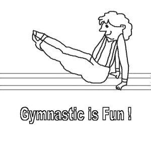 Gymnastic Is Fun Coloring Page