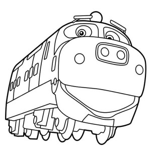 Happy Brewster Of Chuggington Coloring Page