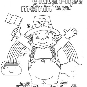 Happy St Patricks Day To All Irish Coloring Page