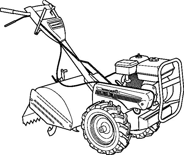 haymaker tractor coloring page